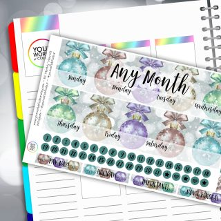 Baulballs Erin Condren Monthly Sticker Kit