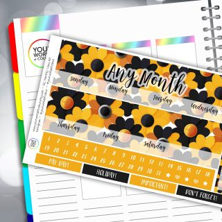 Crazy Daisy Erin Condren Monthly Sticker Kit