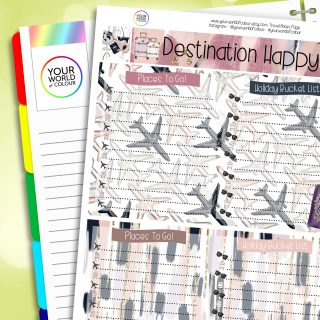 Travel Erin Condren Notes Page Planner Sticker Kit