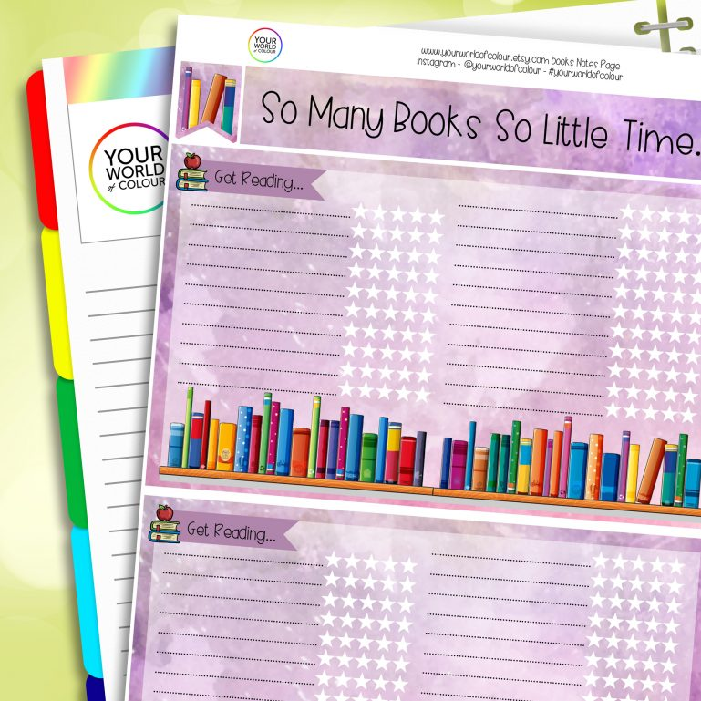 Books Erin Condren Notes Page Planner Sticker Kit