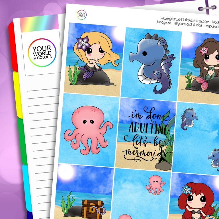 Erin Condren Weekly Planner Sticker Kit