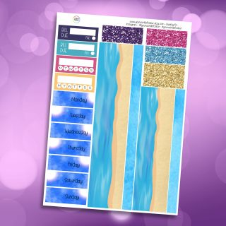 Mer-Mazing Washi and Date Cover Stickers