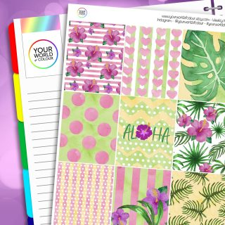 Aloha Erin Condren Weekly Planner Sticker Kit