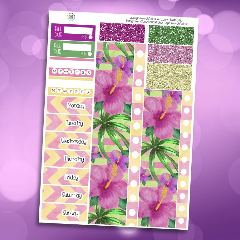 Aloha Washi and Date Cover Stickers