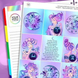 Zodiac Erin Condren Weekly Planner Sticker Kit