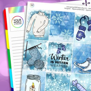 Mitten Weather Erin Condren Weekly Planner Sticker Kit