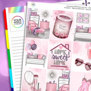 Home Sweet Home Erin Condren Weekly Planner Sticker Kit