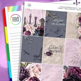 Game Of Thrones Erin Condren Weekly Planner Sticker Kit
