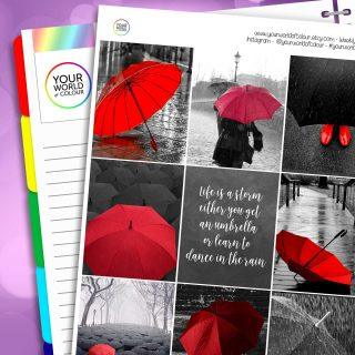 Rainstorms Erin Condren Weekly Planner Sticker Kit