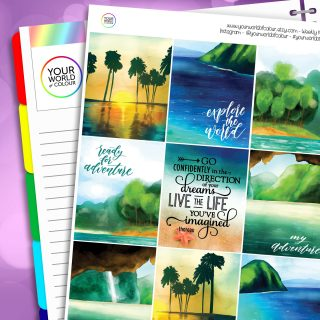 Paradise Erin Condren Weekly Planner Sticker Kit