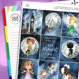 Second Star Erin Condren Weekly Planner Sticker Kit