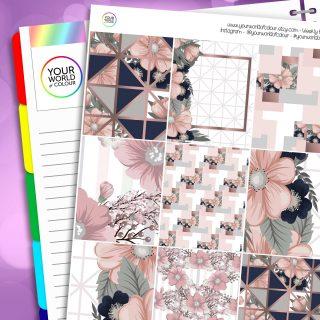 Peach Floral Erin Condren Weekly Planner Sticker Kit