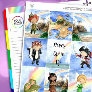 Neverland Erin Condren Weekly Planner Sticker Kit