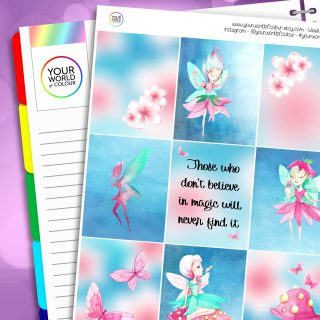 Fairy Magic Erin Condren Weekly Planner Sticker Kit