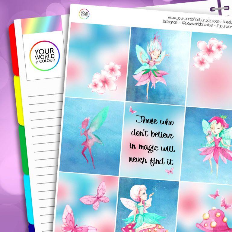 Fairy Magic Erin Condren Weekly Planner Sticker Kit