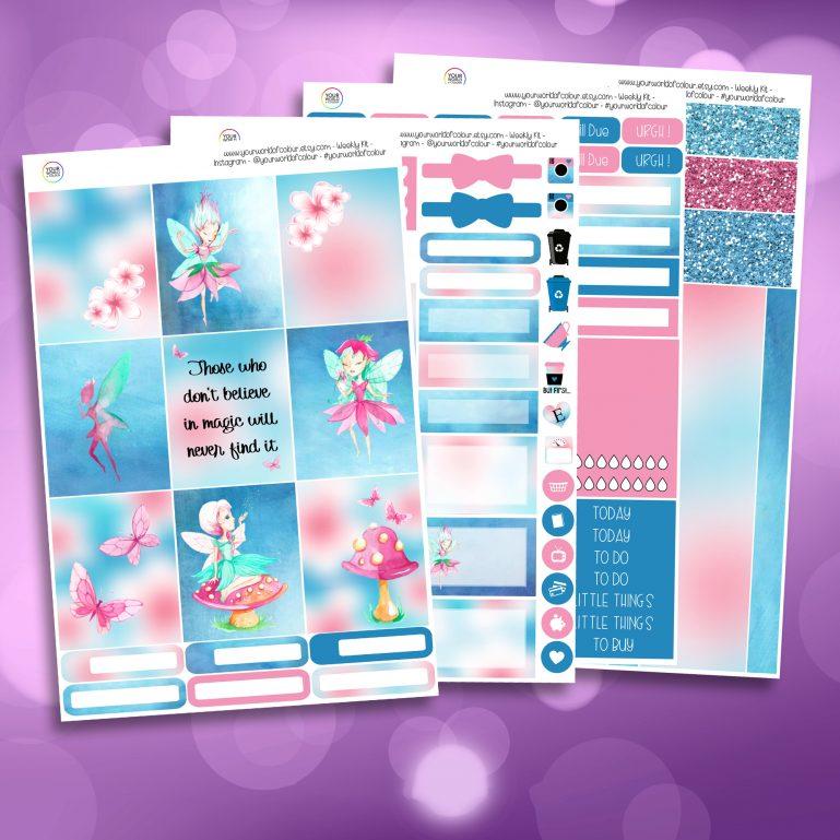Fairy Magic Full Four Sheet Weekly Planner Sticker Kit