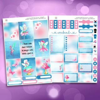 Fairy Magic Two Sheet Weekly Planner Sticker Kit