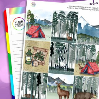 In To The Woods Erin Condren Weekly Planner Sticker Kit