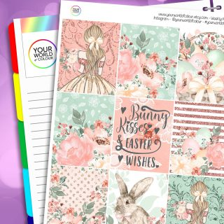 Bunny Kisses Erin Condren Weekly Planner Sticker Kit