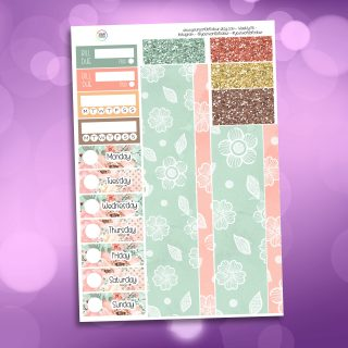 Bunny Kisses Washi and Date Cover Stickers