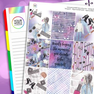 Be Yourself Erin Condren Weekly Planner Sticker Kit