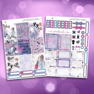 Be Yourself Two Sheet Weekly Planner Sticker Kit