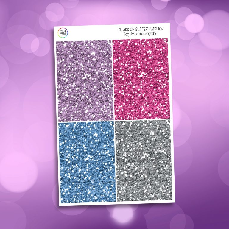 Be Yourself Glitter Headers Add On