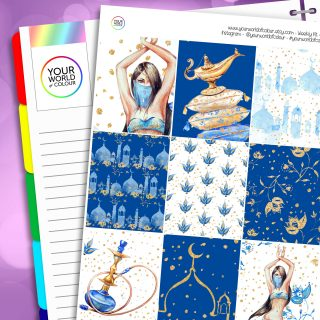Arabian Nights Erin Condren Weekly Planner Sticker Kit
