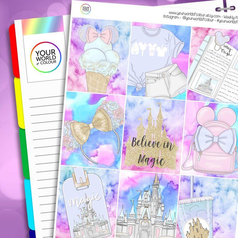 Believe In Magic Erin Condren Weekly Planner Sticker Kit
