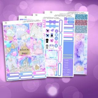 Believe In Magic Full Four Sheet Weekly Planner Sticker Kit