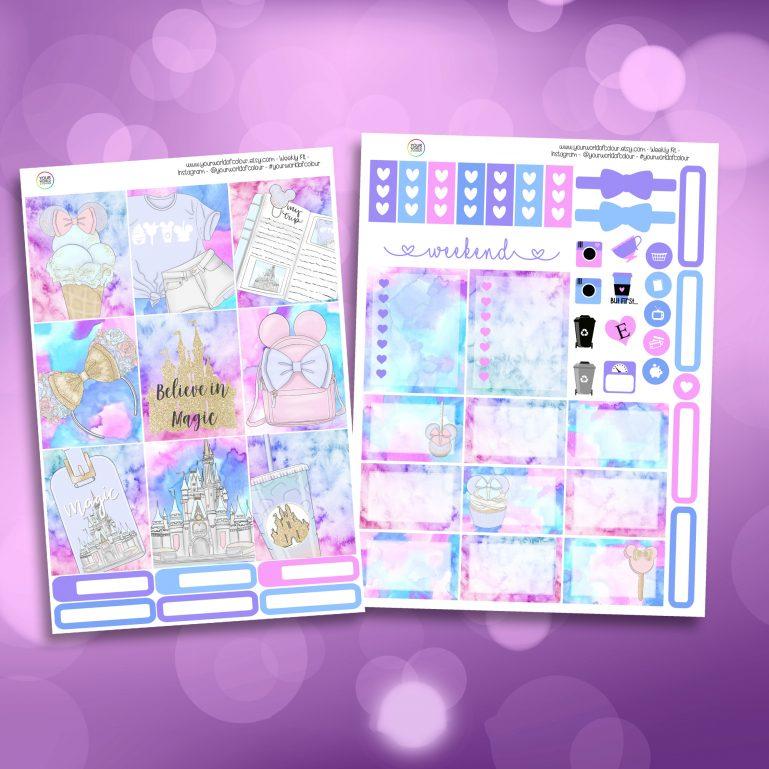 Believe In Magic Two Sheet Weekly Planner Sticker Kit