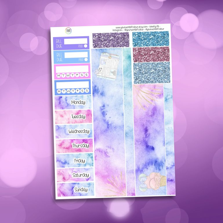 Believe In Magic Washi and Date Cover Stickers