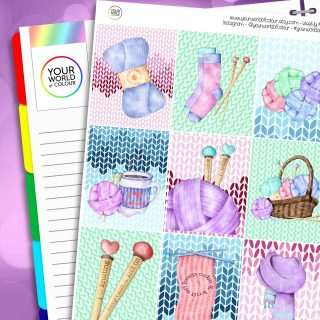 Love To Knit Erin Condren Weekly Planner Sticker Kit