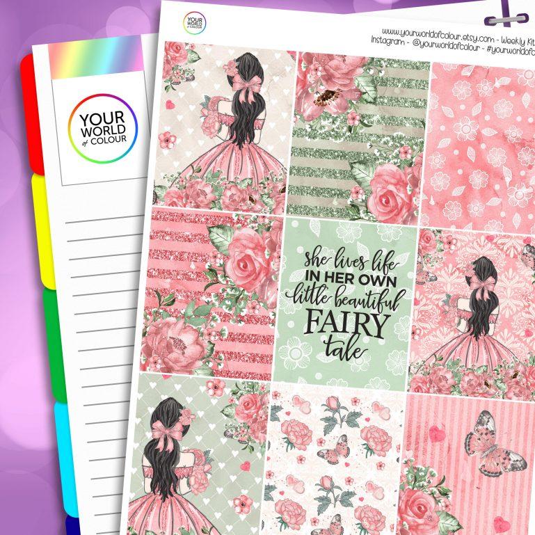 Fairytale Erin Condren Weekly Planner Sticker Kit