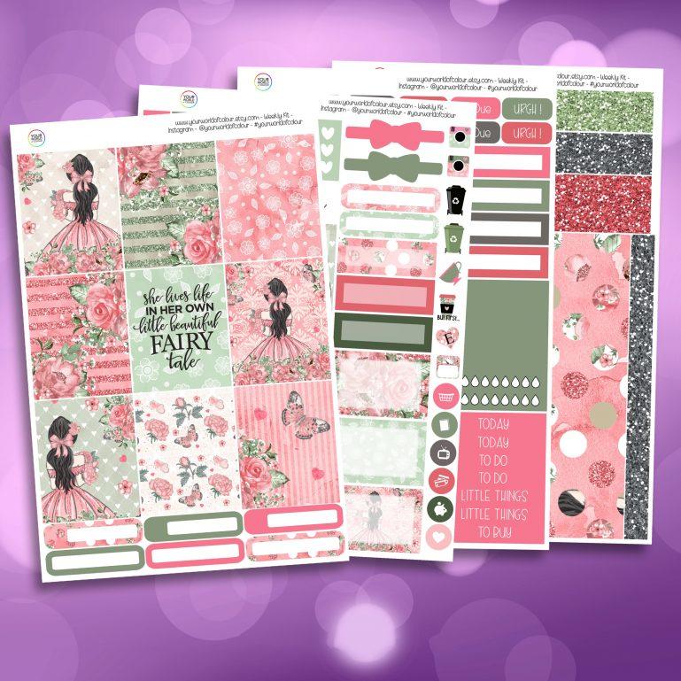 Fairytale Full Four Sheet Weekly Planner Sticker Kit