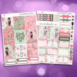 Fairytale Two Sheet Weekly Planner Sticker Kit