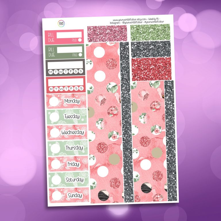 Fairytale Washi and Date Cover Stickers