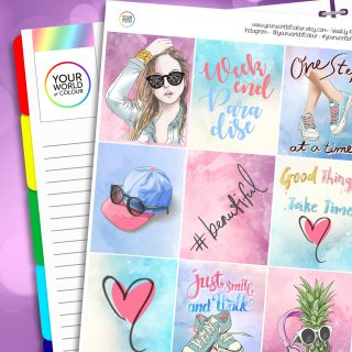 Beautiful Erin Condren Weekly Planner Sticker Kit