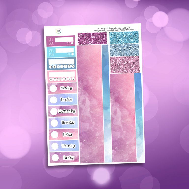 Beautiful Washi and Date Cover Stickers