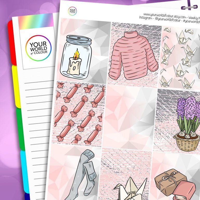 Cozy Spring Time Erin Condren Weekly Planner Sticker Kit