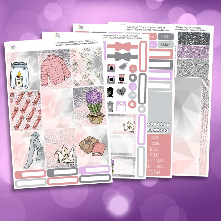 Cozy Spring Time Full Four Sheet Weekly Planner Sticker Kit