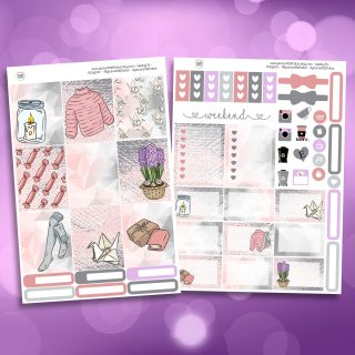 Cozy Spring Time Two Sheet Weekly Planner Sticker Kit