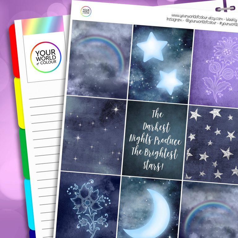 Brightest Star Erin Condren Weekly Planner Sticker Kit