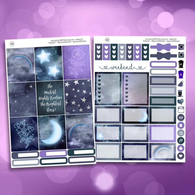 Brightest Star Two Sheet Weekly Planner Sticker Kit
