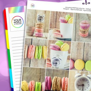 Macaroon Party Erin Condren Weekly Planner Sticker Kit