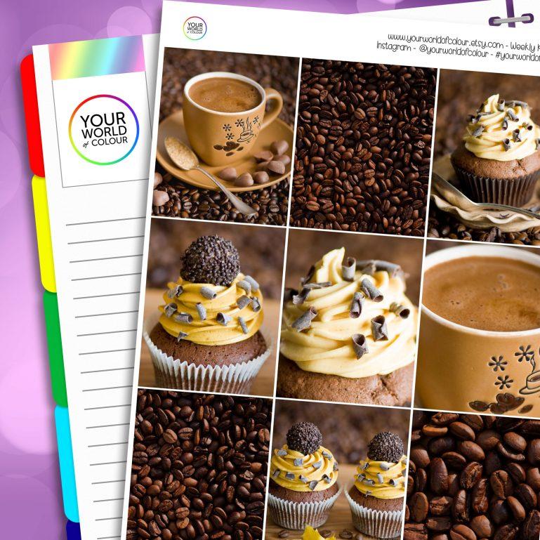 Coffee and Cake Erin Condren Weekly Planner Sticker Kit