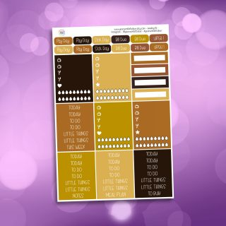 Coffee and Cake Header Stickers
