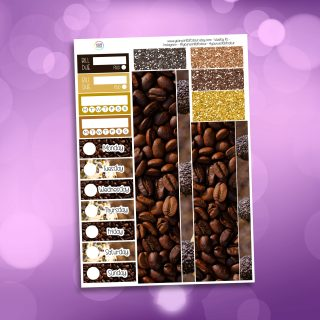Coffee and Cake Washi and Date Cover Stickers