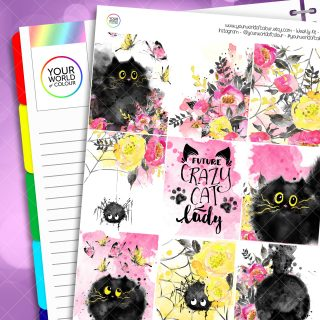 Cats Erin Condren Weekly Planner Sticker Kit