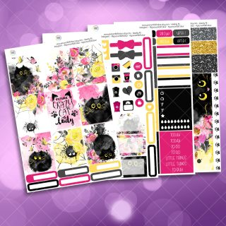 Cats Full Four Sheet Weekly Planner Sticker Kit